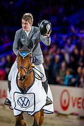 MCMAHON Eoin (IRL), Chacon 2<br /> Siegerehrung<br /> Grand Prix von Volkswagen<br /> Int. jumping competition over two rounds (1.55 m) - CSI3*<br /> Comp. counts for the LONGINES Rankings<br /> Braunschweig - Classico 2020<br /> 08. März 2020<br /> © www.sportfotos-lafrentz.de/Stefan Lafrentz