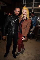 KINDER AGUGINI and PAM HOGG at a screening of a short film directed by Willem Jaspert and Stephen Langmanis to celebrate the launch of Bella Freud and Susie Bick's first design collaboration held at Town Hall, 8 Patriot Square, London E2 on 6th September 2010.