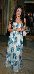 Sophia Hyatt attending the 27th Awards of the London Film Critics' Circle 2007 in aid of the NSPCC held at The Dorchester, Park Lane, London on 8th February 2007.<br />
