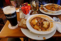 Lamb Stew and Guinness. Image taken with a Nikon 1 V1 camera and 10 mm lens.