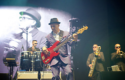 Madness <br /> headline House of Common Festival on Clapham Common, London, Great Britain <br /> 28th August 2017 <br /> <br /> Mark Bedford - bass player of <br /> Madness <br /> <br /> <br /> Photograph by Elliott Franks <br /> Image licensed to Elliott Franks Photography Services