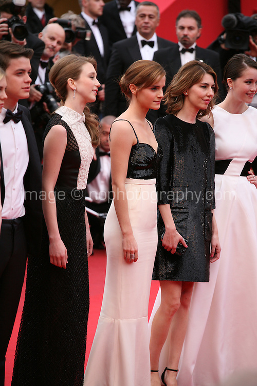 Emma Watson, Sofia Coppola, the cast of The Bling Ring at the gala screening of Jeune & Jolie at the 2013 Cannes Film Festival 16th May 2013