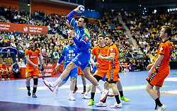 Borut Mackovsek of Slovenia during handball match between National teams of Slovenia and Netherlands in Qualifications of 2020 Men's EHF EURO, on April 14, 2019, in Arena Zlatorog, Celje, Slovenia. Photo by Vid Ponikvar / Sportida