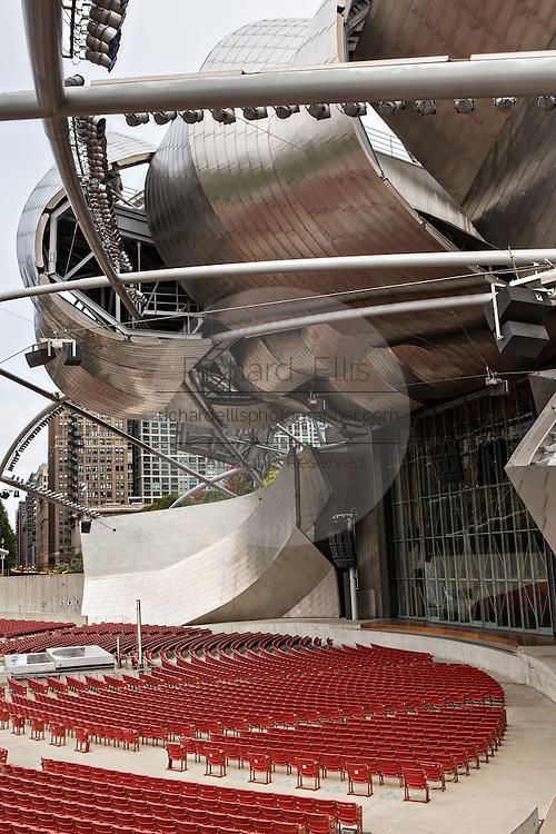 Jay Pritzker Pavilion Millennium Park in Chicago USA