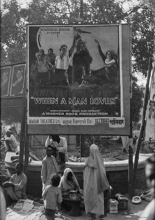 """""""When a Man Loves"""" Cinema Advertisement, Benares, India, 1929"""