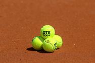 """Tennisball """"DTB-Tour"""" des Deutschen Tennis Bundes als Eigenmarke in Zusammenarbeit mit Wilson, Berlin, 13.05.2018, Foto: Claudio Gärtner"""