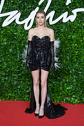 Emma Roberts attending the Fashion Awards 2019 at the Royal Albert Hall in London, England on December 02, 2019. Photo by Bakounine/ABACAPRESS.COM