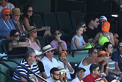 KEY BISCAYNE, FL - APRIL 01 : Victoria Beckham and David Beckham seen watching John Isner Vs Alexander Zverev during the mens final during the 2018 Miami Open at Crandon Park Tennis Center on April 1, 2018 in Key Biscayne, Florida. CAP/MPI04 ©MPI04/Capital Pictures. 01 Apr 2018 Pictured: Victoria Beckham, Romeo Beckham, Harper Beckham, David Beckham, Victoria Beckham, Romeo Beckham, Harper Beckham, David Beckham, Marcelo Claure. Photo credit: MPI04/Capital Pictures / MEGA TheMegaAgency.com +1 888 505 6342