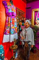 Sally Moon, owner of the Wild Moon Boutique, Old Town, Albuquerque, New Mexico USA.