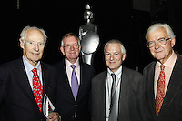 Sir George Martin CBE,  John Deacon CBE, Nick Williams (BRIT School Principal) and Lord Baker of Dorking (l-r)  The BRIT School Industry Day, Croydon, London..Thursday, Sept.22, 2011 (John Marshall JME)