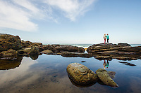 Large freshwater pool on the coastline of the Otter Trail, Tsitsikamma Marine Protected Area, Garden Route National Park, Eastern Cape, South Africa,
