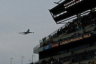 6 Dec 2008: Air Force One Flies over Lincoln Financial Field before the Army / Navy game December 6th, 2008. At Lincoln Financial Field in Philadelphia, Pennsylvania.