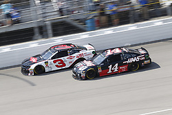 August 12, 2018 - Brooklyn, Michigan, United States of America - Austin Dillon (3) and Clint Bowyer (14) battle for position during the Consumers Energy 400 at Michigan International Speedway in Brooklyn, Michigan. (Credit Image: © Chris Owens Asp Inc/ASP via ZUMA Wire)