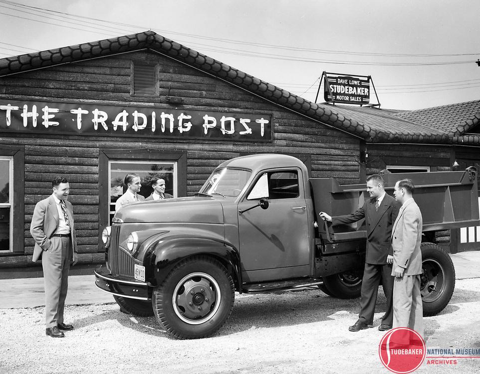 1947 Studebaker M-Series truck at Dave Lowe Motor Sales.
