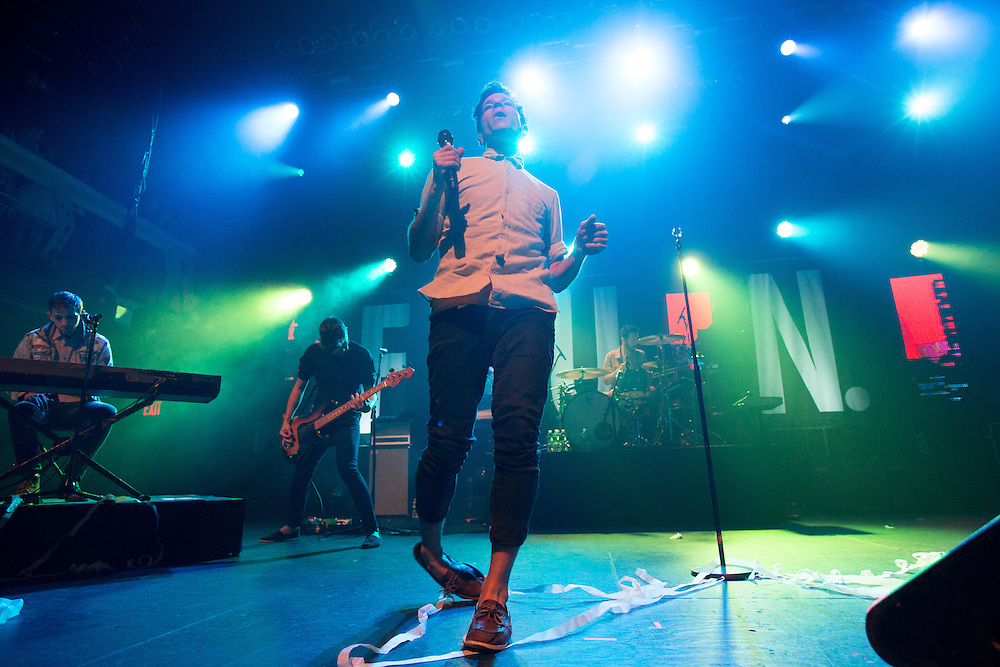 """Singer Nate Ruess and other members of the band Fun. perform at Terminal 5 in Manhattan, N.Y., Saturday, June 16, 2012. Earlier in 2012, Fun. came out of nowhere to top the charts with """"We Are Young."""" The band's guitarist, Jack Antonoff, who also fronts the band Steel Train, is from New Jersey. Claudio Papapietro/For The Star-Ledger"""