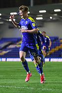 GOAL 1-0, AFC Wimbledon midfielder Jack Rudoni (12)  during the EFL Sky Bet League 1 match between AFC Wimbledon and Gillingham at Plough Lane, London, United Kingdom on 23 February 2021.
