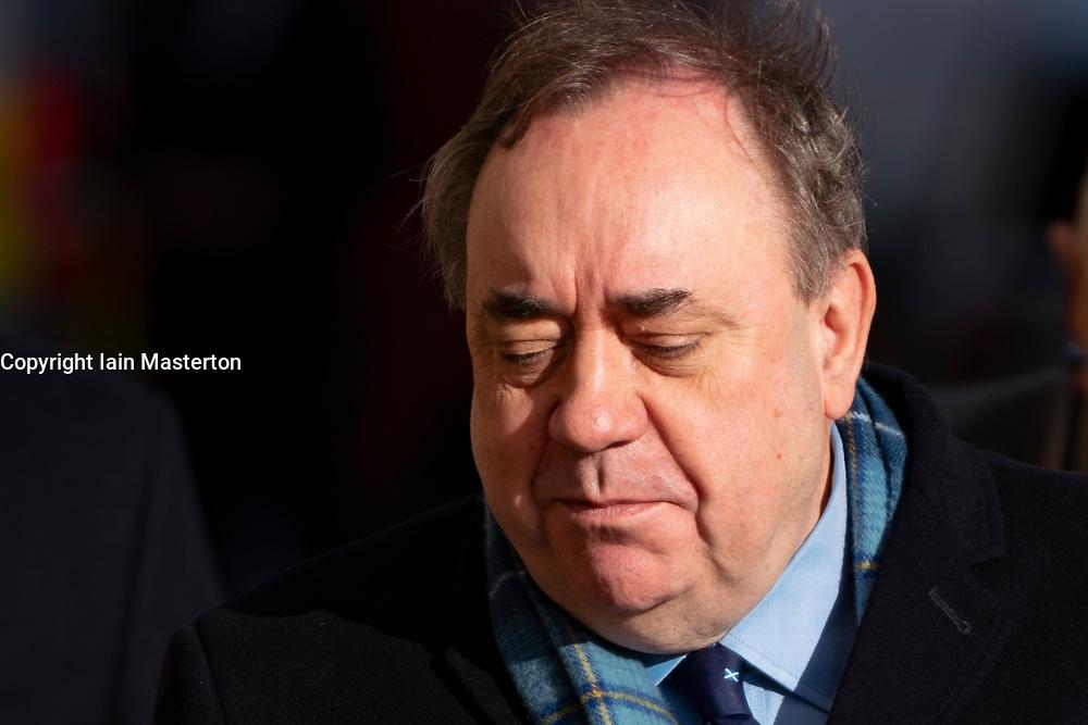 Edinburgh, Scotland, UK. 17 March, 2020.  Alex Salmond arrives at High Court in Edinburgh on the seventh day of his trial.  Iain Masterton/Alamy Live News