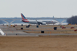 WASHINGTON, March 13, 2019  An American Airlines Boeing 737 Max 8 aircraft from Los Angeles lands at Washington Reagan National Airport in Washington D.C., the United States on March 13, 2019. The United States is grounding all Boeing 737 Max 8 and 9 aircraft, said U.S. President Donald Trump Wednesday, as the country becomes the last major country to do so after two crashes by the model in recent months. (Credit Image: © Ting Shen/Xinhua via ZUMA Wire)