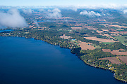 Image from a flight over Merrimac, Wisconsin on a beautiful autumn day.