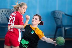 Nina Razem of RK Zagorje during handball match between RK Zagorje and RK Krim Mercator of Super Cup 2016, on August 27, 2016 in SRC Marina, Portoroz / Portorose, Slovenia. Photo by Matic Klansek Velej / Sportida