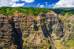 Waterfalls, Waimea Canyon, Kauai, Hawaii, USA