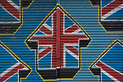 Days after Brexit Day, when the UK finally left the European Union after three years of political turmoil, a home-made design of a Union Jack is seen sprayed on the shutters of a closed business in Sydenham, on 5th February 2020, in London, England.