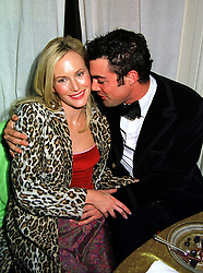 MISS NORMANDIE KEITH and her fiance the HON.LUCAS WHITE, at a dinner in London on 21st October 1999.MYA 212