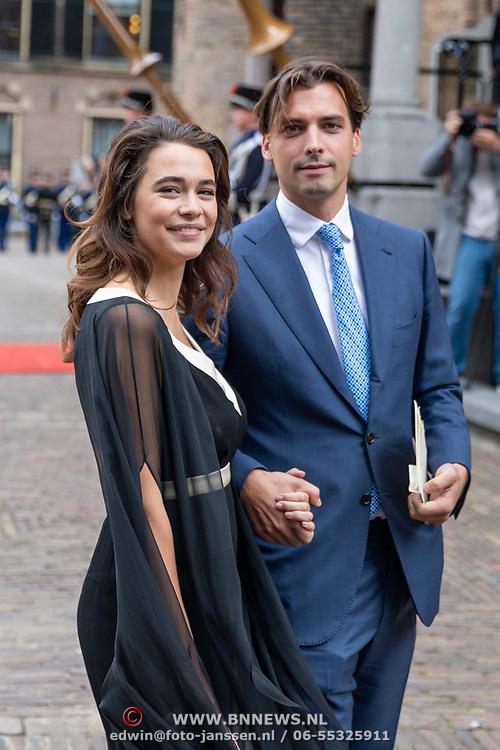NLD/Den Haag/20190917 - Prinsjesdag 2019, Thierry Baudet en partne Davide Heijmans
