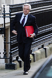 London, January 16 2018. Secretary of State for Exiting the European Union David Davis attends the UK cabinet meeting at Downing Street. © Paul Davey