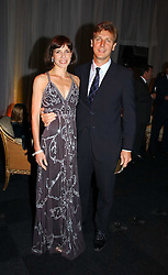 Ballerina DARCEY BUSSELL and her husband MR ANGUS FORBES at the Fortune Forum Dinner held at Old Billingsgate, 1 Old Billingsgate Walk, 16 Lower Thames Street, London EC3R 6DX<br /><br />NON EXCLUSIVE - WORLD RIGHTS