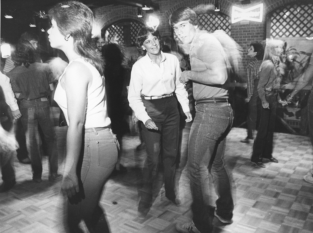 ©1982 Dancing to country music at the Broken Spoke on south Lamar Blvd. in Austin  circa 1980's