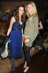 Left to right, MARINA HANBURY and The HON.SOPHIA HESKETH at a party hosted by Daniella Helayel of fashion label ISSA held at Taman Gang, 141 Park Lane, London on 15th February 2006.<br /><br />NON EXCLUSIVE - WORLD RIGHTS