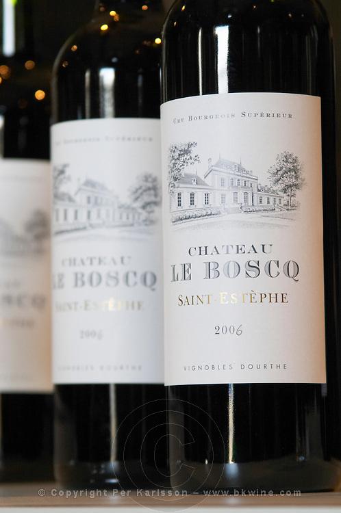 bottles chateau le boscq st estephe medoc bordeaux france
