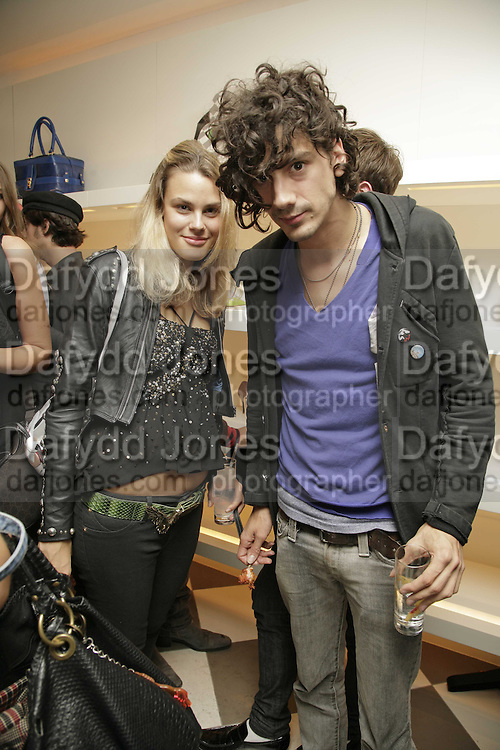 Isabelle Bscher and Anthony Rossomando, PPQ of Mayfair shop launch. 47 Conduit St. 18 September 2006. ONE TIME USE ONLY - DO NOT ARCHIVE  © Copyright Photograph by Dafydd Jones 66 Stockwell Park Rd. London SW9 0DA Tel 020 7733 0108 www.dafjones.com