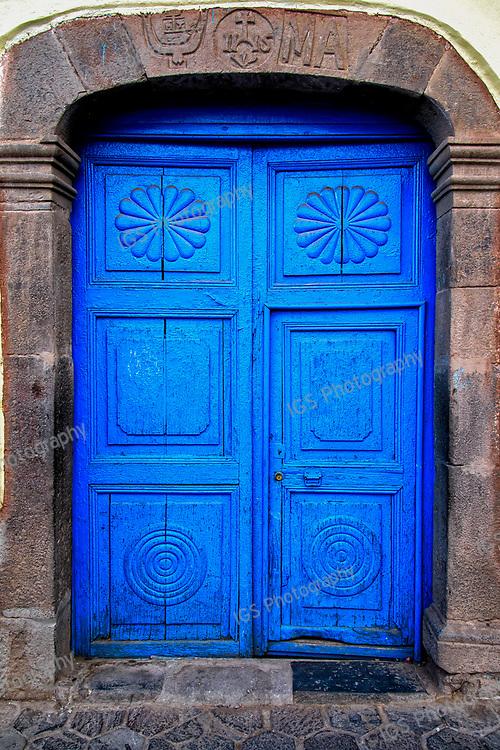 Blue Doors in the San Blas district of Cusco