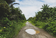 The rough road that connects Aitape and Wewak in Papua New Guinea, pictured after a rain.<br /><br />(July 20, 2017)
