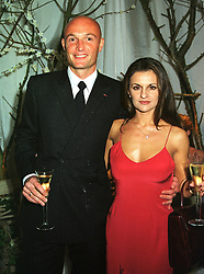 MR & MRS FRANK LE BOEUF, he is the French international footballer, at a dinner in London on 21st October 1999.MYA 107