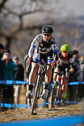 SHOT 1/12/14 2:32:00 PM - Catherine Moore (#85) of Waco, Tx. competes in the Women's Elite race at the 2014 USA Cycling Cyclo-Cross National Championships at Valmont Bike Park in Boulder, Co.  (Photo by Marc Piscotty / © 2014)
