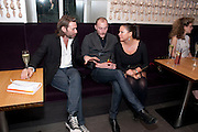 MAT COLLISHAW; JAMES SMALL; FRAN CUTLER, Esquire dinner celebrating being Brilliant, Young and British hosted by editor Jeremy Langmead at Aqua Nueva, Fifth Floor, 240 Regent Street , London 1 June 2010. -DO NOT ARCHIVE-© Copyright Photograph by Dafydd Jones. 248 Clapham Rd. London SW9 0PZ. Tel 0207 820 0771. www.dafjones.com.