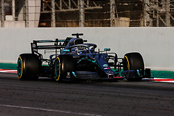 February 28, 2019 - Montmelo, BARCELONA, Spain - Valtteri Bottas fo Finland with 77 of Mercedes AMG Petronas Motorsport W10 in action with the DRS activated  during the Formula 1 2019 Pre-Season Tests at Circuit de Barcelona - Catalunya in Montmelo, Spain on February 28. (Credit Image: © AFP7 via ZUMA Wire)