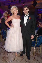 ZAFAR RUSHDIE and NATALIE COYLE at Fashion For The Brave at The Dorchester, Park Lane, London on 8th November 2013.