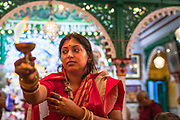 Durga Puja is the grandest of all Hindu festivals in Bengal. The festival is celebrated either as community pujas, called sarbajonin, or in private mansions, called bonedi barir puja. The bonedi barir puja was started by zamindar and mercantile families of Kolkata in their homes, and even today all the members of the family come together to celebrate this age-old tradition.