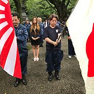 Anniv of war's end @ Yasukuni war shrine 8-15-2017