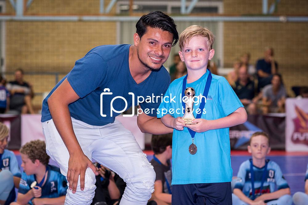 BRISBANE, AUSTRALIA - NOVEMBER 30:  during the award presentation for Ruiz Football Academy juniors on November 30, 2017 in Brisbane, Australia. (Photo by Patrick Kearney)