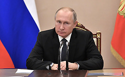 December 17, 2018 - Moscow, Russia - December 17, 2018. - Russia, Moscow. - Russian President Vladimir Putin chairs a meeting of the permanent members of the Russian Security Council. (Credit Image: © Russian Look via ZUMA Wire)