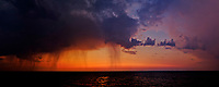 Summer Baltic Sea Rain Clouds at Dawn from the MV Explorer. Semester at Sea, Summer 2014 Voyage. Composite of 13 images taken with a Fuji X-T1 camera and Zeiss 32 mm f/1.8 lens (ISO 1600, 32 mm, f/2.8, 1/30 sec). Raw images processed with Lightroom, Autopano Giga Pro, Capture One, Define, Perfect Resize, and Photoshop CC.