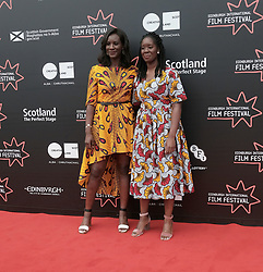 Edinburgh International Film Festival, Friday 30th June 2017<br /> <br /> 1745 Short Film<br /> <br /> Sisters Moyo and Morayo Akande from Glasgow from the short film '1745' attended a red carpet for the world premiere of their movie<br /> <br />  <br /> <br /> (c) Alex Todd   Edinburgh Elite media