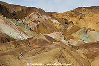Hikers at Artists Pallette, Death Valley National Park, California