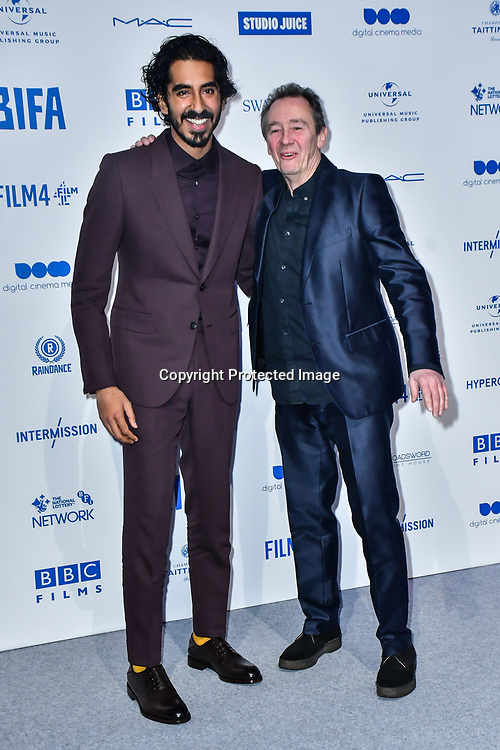 Dev Patel, Paul Whitehouse attends the 22nd British Independent Film Awards at Old Billingsgate on December 01, 2019 in London, England.