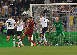 May 2, 2018 - Rome, Italy - James Milner kicks autogoal 1-1  during the UEFA Champions League semifinal match between AS Roma and FC Liverpool at the Olympic stadium on may 02, 2018 in Rome, Italy. (Credit Image: © Silvia Lore/NurPhoto via ZUMA Press)
